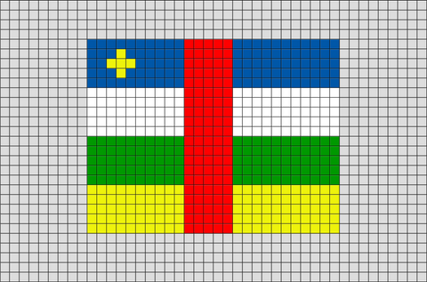 Flag of Central African Republic Pixel Art