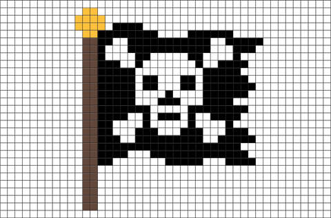Jolly Roger Pixel Art