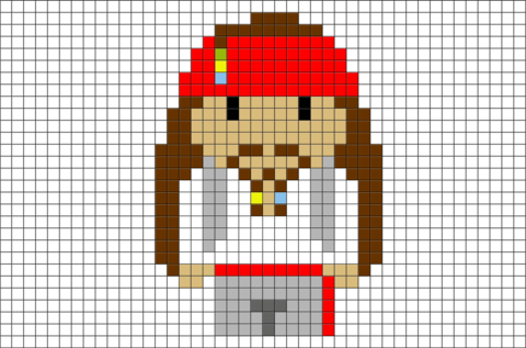Jack Sparrow Pirates Pixel Art