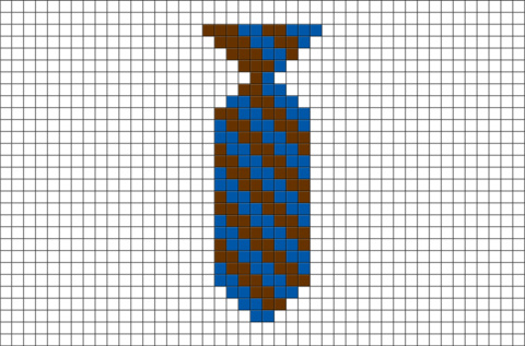 Harry Potter House Ties Ravenclaw Pixel Art