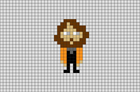 Harry Potter Sirius Black Pixel Art