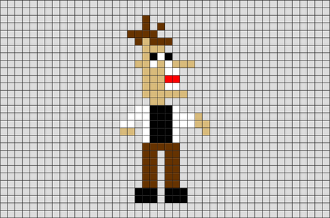 Phineas and Ferb Doofenshmirtz Pixel Art