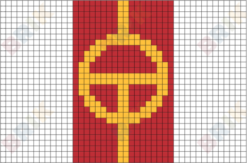 Red Tornado Pixel Art