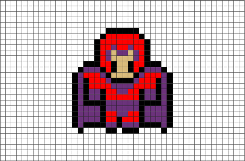 X-Men Magneto Pixel Art