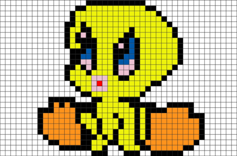 Tweety Bird Pixel Art