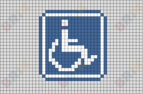International Symbol of Access Pixel Art