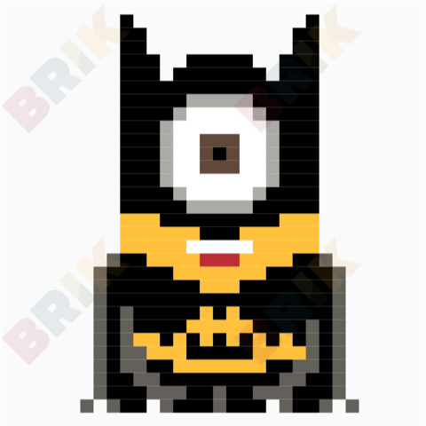 Minion Batman Pixel Art