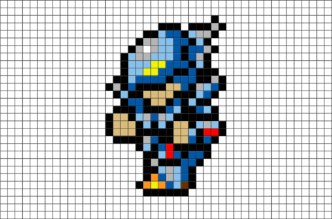 Final Fantasy Cecil Pixel Art Brik