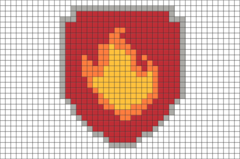 Marshall's Badge Pixel Art