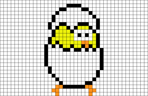 Hatching Chicken Pixel Art