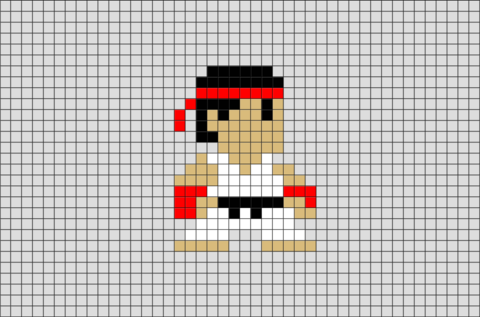 Karate Boy Pixel Art