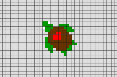 Love Turtle Pixel Art BRIK