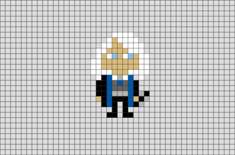 Harry Potter Luna Lovegood Pixel Art