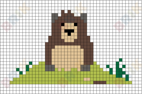 Groundhog Day Pixel Art