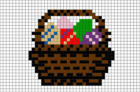Easter Basket Pixel Art