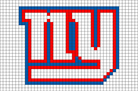 New York Giants Pixel Art