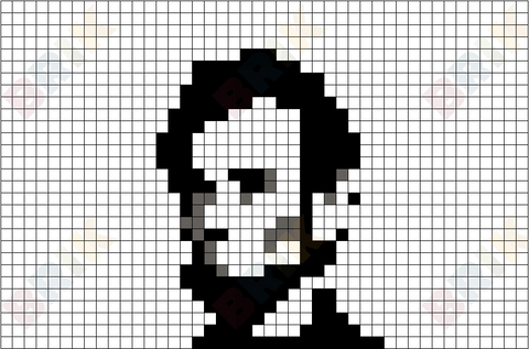 Abraham Lincoln Pixel Art