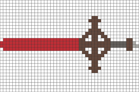 Adventure Time Demon Blood Sword Pixel Art Brik