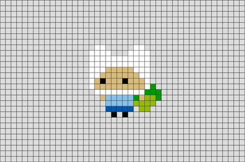 Adventure Time Finn the Human Pixel Art