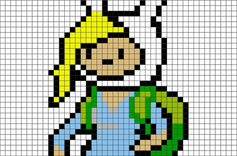 Adventure Time Fionna Pixel Art
