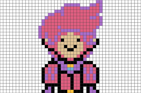 Adventure Time Prince Gumball Pixel Art