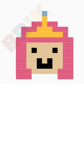 Adventure Time Princess Bubblegum Pixel Art