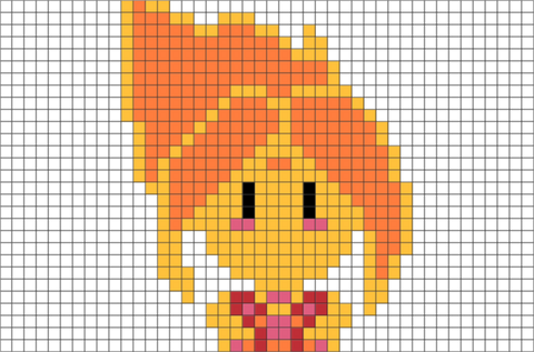 Adventure Time Flame Princess Pixel Art