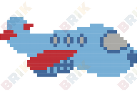 Airplane Pixel Art