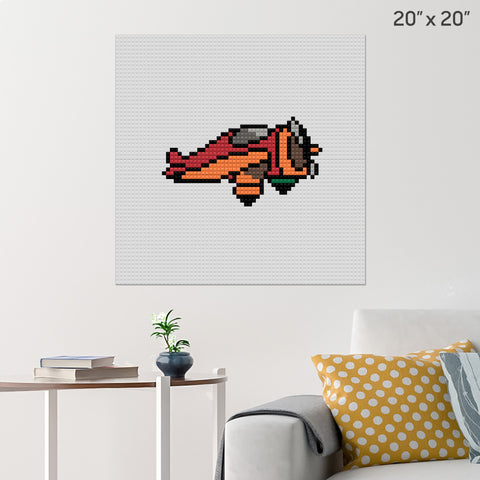 Airplane Brick Poster