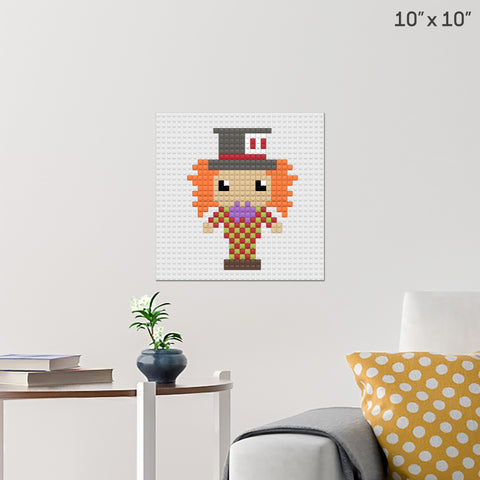 Alice in Wonderland Hatter Brick Poster