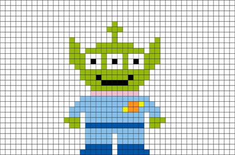 Alien Toy Story Pixel Art