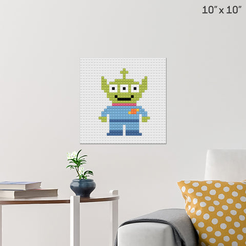 Alien Toy Story Brick Poster