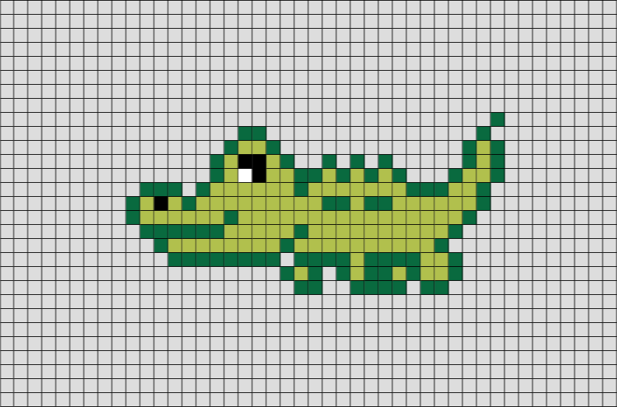 alligator pixel art  u2013 brik