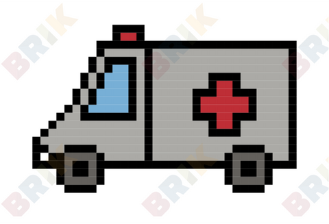 Ambulance Pixel Art