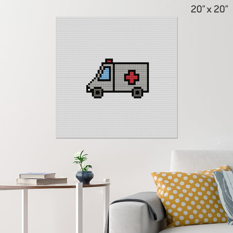 Ambulance Brick Poster