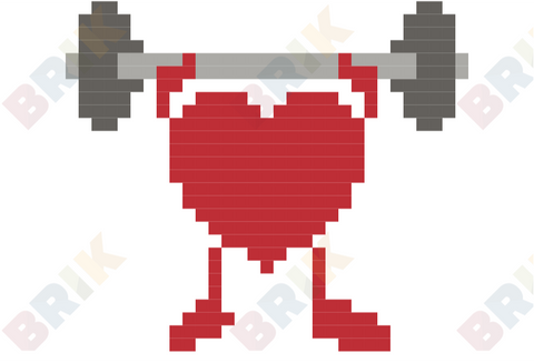 American Heart Month Pixel Art