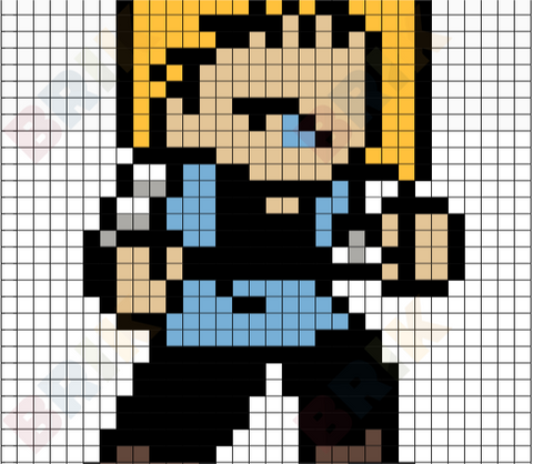 Android 18 Pixel Art