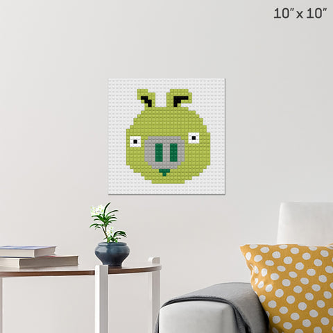 Angry Birds Pig Brick Poster