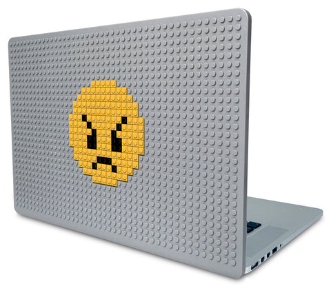 Angry Face Emoji Laptop Case