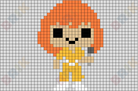 April O'Neil Pixel Art