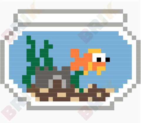 Aquarium Month Pixel Art