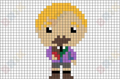 Augustus Gloop Pixel Art