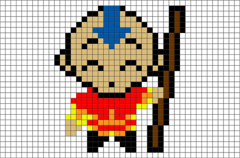 Avatar The Last Airbender Aang Pixel Art