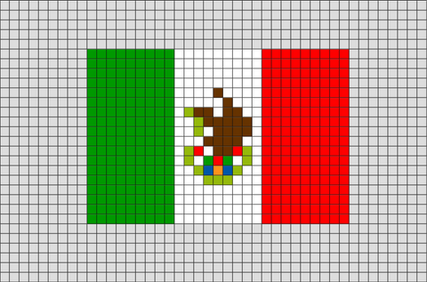 Flag of Mexico Pixel Art