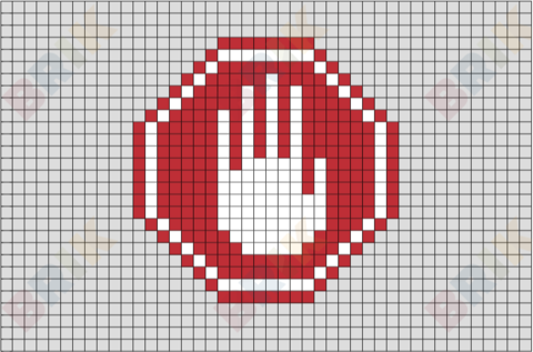 Stop Sign Pixel Art