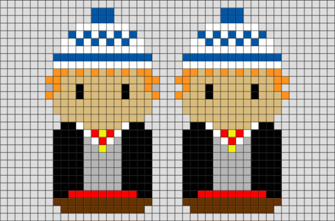 Harry Potter Fred and George Weasley Pixel Art