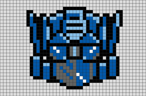 Transformers Optimus Prime Pixel Art