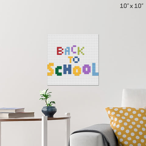 Back to School Brick Poster