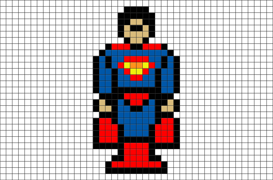 Superman 1 Pixel Art Brik