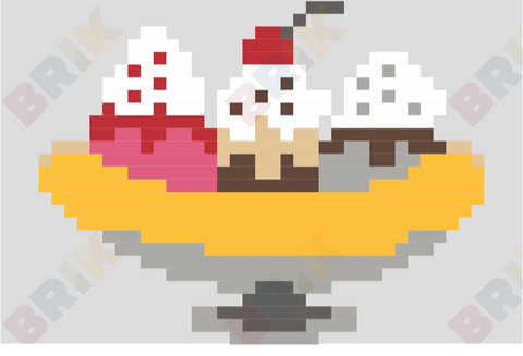 Banana Split Pixel Art